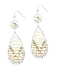 Nakamol | Multicolor Fireflame Earrings-cream Mix | Lyst