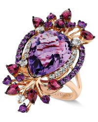 Le Vian | Purple ® Crazies Collection® Multistone Ring In 14k Strawberry Rose Gold (8 Ct. T.w.) | Lyst