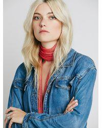 Free People | Blue Womens Tencel Swing Jacket | Lyst