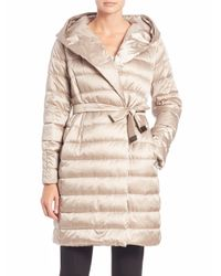 Max Mara | Metallic Cube Collection Novef Hooded Puffer Coat | Lyst