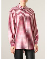 RED Valentino - Red Oversized Striped Shirt - Lyst