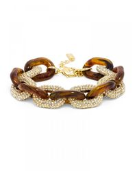 BaubleBar | Brown Pavé Resin Links | Lyst
