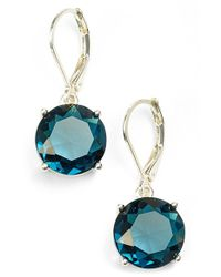 Anne Klein | Metallic Stone Drop Earrings | Lyst
