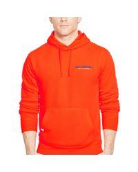 Ralph Lauren - Orange Fleece Pullover Hoodie for Men - Lyst