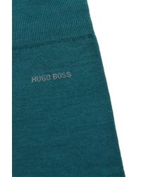 BOSS - Green Wool-blend Socks: 'john' for Men - Lyst