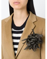Erika Cavallini Semi Couture | Green Chrysanthemum Flower Brooch | Lyst