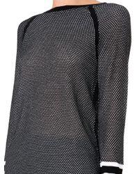 Rag & Bone | Black Martina Perforated Sweater | Lyst
