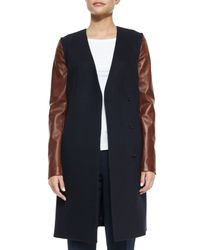 Theory - Blue Quennel Compact Wool Jacket - Lyst