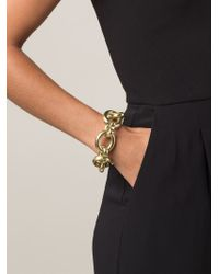 Vaubel - Metallic Large Linked Oval Chain Bracelet - Lyst
