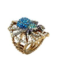 Betsey Johnson - Metallic Spider Lux Ring - Lyst
