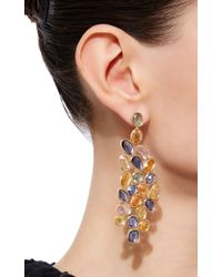 Sidney Garber | Multicolor Wave Of Sapphires Earrings | Lyst