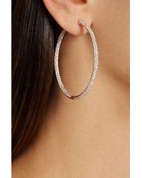 Anita Ko - Metallic 18karat Rose Gold Diamond Hoop Earrings - Lyst