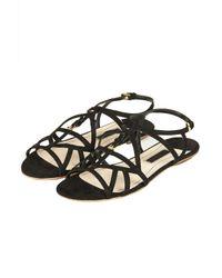 TOPSHOP - Black Fifi Cut Out Sandals - Lyst