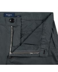 Paul Smith - Gray Men's Slate Grey Slim-fit Washed Cotton-twill Chinos for Men - Lyst
