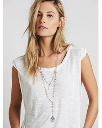 Free People | Natural Womens Double Layer Rosary | Lyst