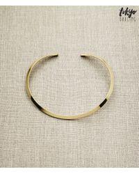 Tokyo Darling | Metallic Gold Metal Choker | Lyst
