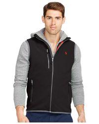 Polo Ralph Lauren | Black Microfleece Vest for Men | Lyst