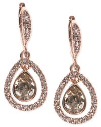 Givenchy - Pink Crystal Orbital Pavé Drop Earrings - Lyst