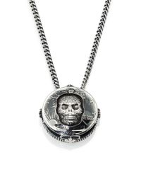 King Baby Studio | Metallic Half Dollar Skull Pendant Necklace for Men | Lyst