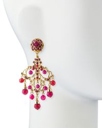 Jose & Maria Barrera - Pink Chandelier Drop Earrings - Lyst
