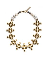 Lizzie Fortunato | White Arena Necklace | Lyst
