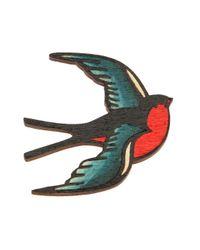 Tatty Devine | Multicolor Swallow Bird Brooch | Lyst