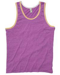 Alternative Apparel - Purple Double Ringer Eco-jersey Tank Top for Men - Lyst