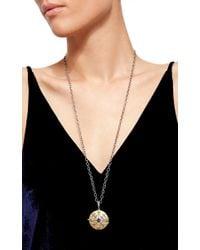 Arman Sarkisyan - Metallic Large Le Medaillon Round Locket With Diamonds And Sapphires - Lyst