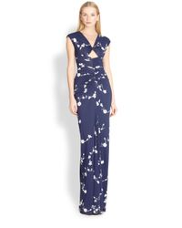 Michael Kors | Floral Jersey Gown | Lyst