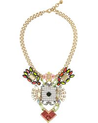 Lulu Frost - Metallic Revolution Gold Plated Crystal Necklace - Lyst