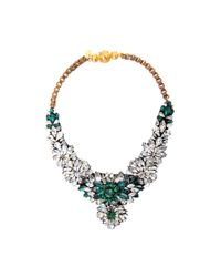 Shourouk | Green Apolonia Necklace | Lyst