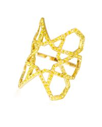 Ralph Masri | Metallic Arabesque Yellow Diamond Ring | Lyst