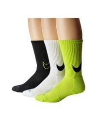 Nike | Green Dri-fit Cotton Swoosh Crew 3-pair Pack | Lyst