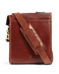 Brooks Brothers | Brown J.w. Hulme Leather Correspondent Bag for Men | Lyst