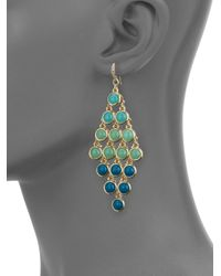 ABS By Allen Schwartz | Metallic Seaglass Brights Chandelier Earrings | Lyst