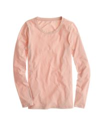 J.Crew - Pink Tissue Longsleeve Tee - Lyst
