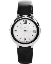 Baume & Mercier - Metallic M0a10185 Promesse Stainless Steel And Leather Watch - Lyst