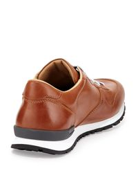 Tod's | Brown Runner Burnished Leather Sneaker for Men | Lyst