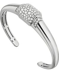 BVLGARI | Mvsa 18Ct White-Gold And Diamond Bracelet - For Women | Lyst