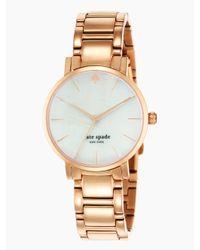 kate spade new york | Pink Gramercy Bracelet Watch | Lyst