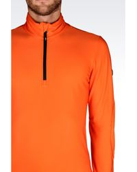 EA7 | Orange Technical Ski Sweatshirt for Men | Lyst