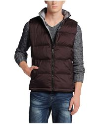 BOSS Orange - Brown 'oran' Waistcoat In A Quilted Effect for Men - Lyst