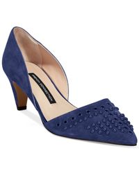 French Connection | Blue Kodee Mid-heel Pumps | Lyst