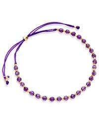 Biography - Purple Amethyst Skinny Bracelet - Lyst