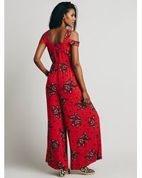 Free People - Red Womens Love You Love Me Romper - Lyst