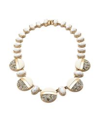 J.Crew - White Lulu Frost Stone-crystal Disk Necklace - Lyst