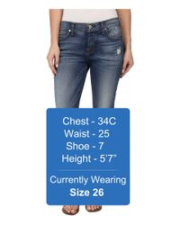 7 For All Mankind - Blue Josefina In Distressed Authentic Light - Lyst