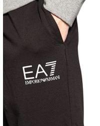 EA7 - Gray Cotton Sweatshirt & Jogging Pants - Lyst