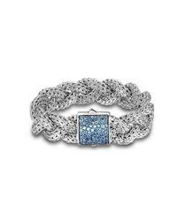 John Hardy - Metallic Large Braided Bracelet - Lyst