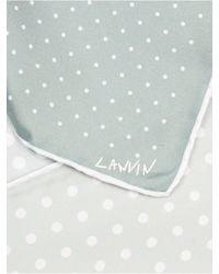 Lanvin | Metallic Patchwork Dot-print Pocket Square for Men | Lyst